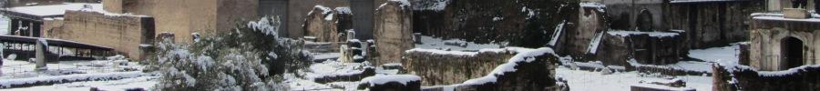 neve sul foro romano