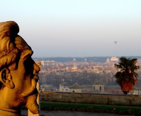 Il Gianicolo al tramonto